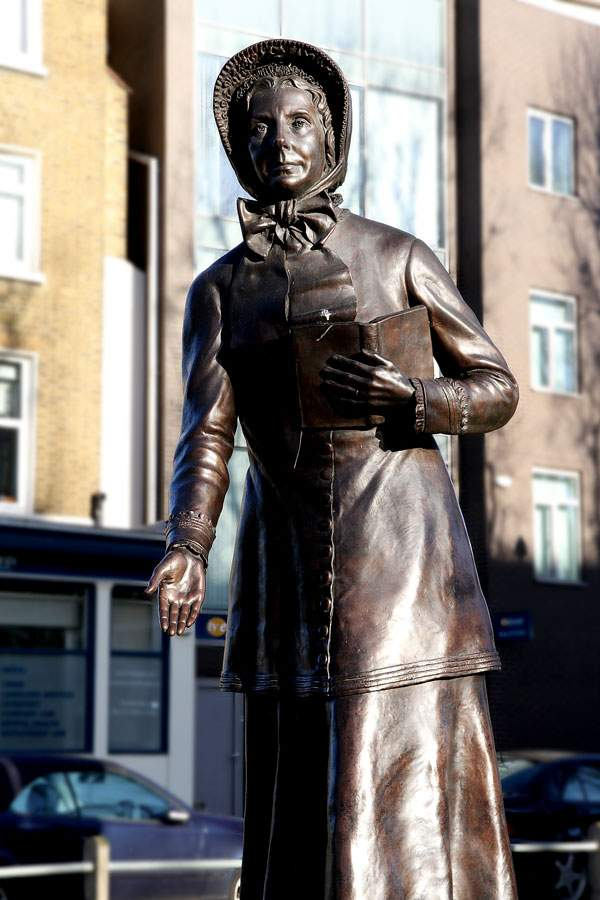 Today, statues of William and Catherine Booth stand in the area of London where The Salvation Army began