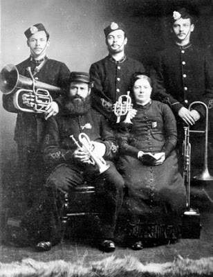 Charles Fry and his family, who formed the first Salvation Army brass group in 1878