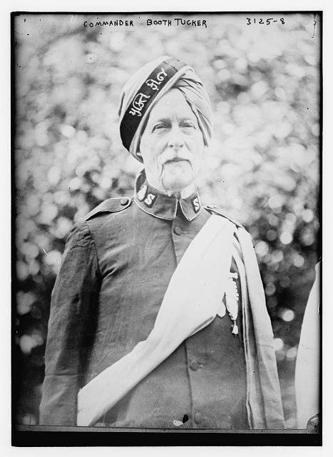 Frederick Booth-Tucker wearing a version of Salvation Army uniform tailored for India (photo: Library of Congress, 1914)