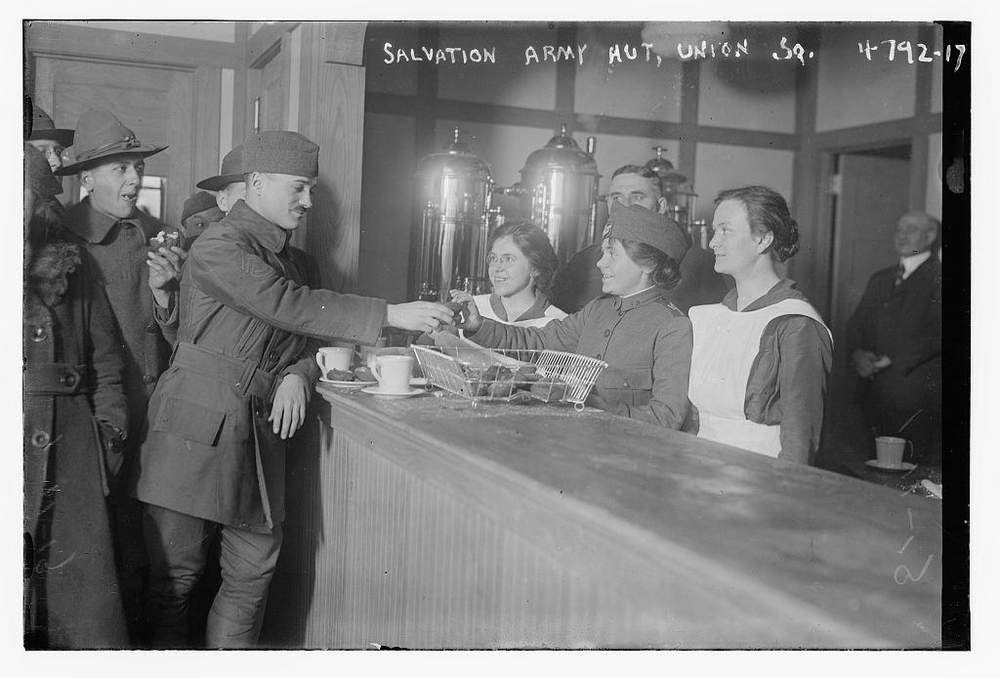 A Salvation Army hut in New York, USA (photo: Library of Congress, c.1915-1920)