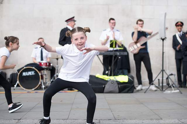 A member of the Konverse dance group (Barking, UK) at the Mobilising Celebration, 2017
