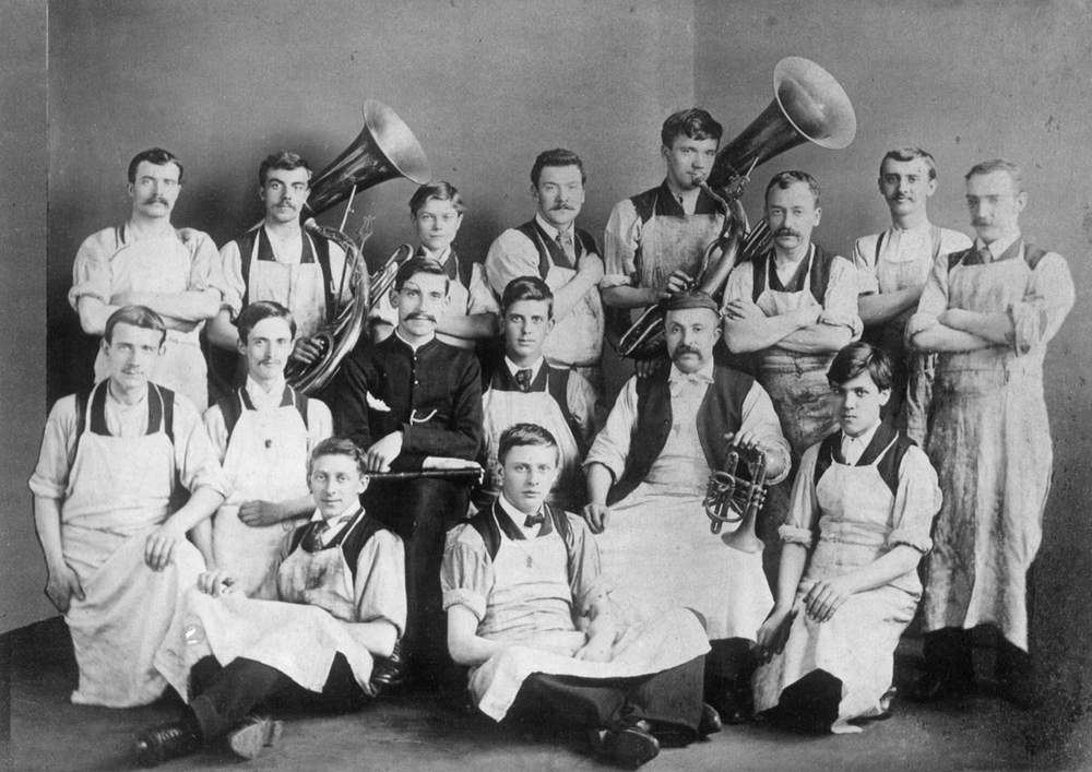 The staff of The Salvation Army's Musical Instrument Factory, Clerkenwell Road (photo: International Heritage Centre, 1890s)