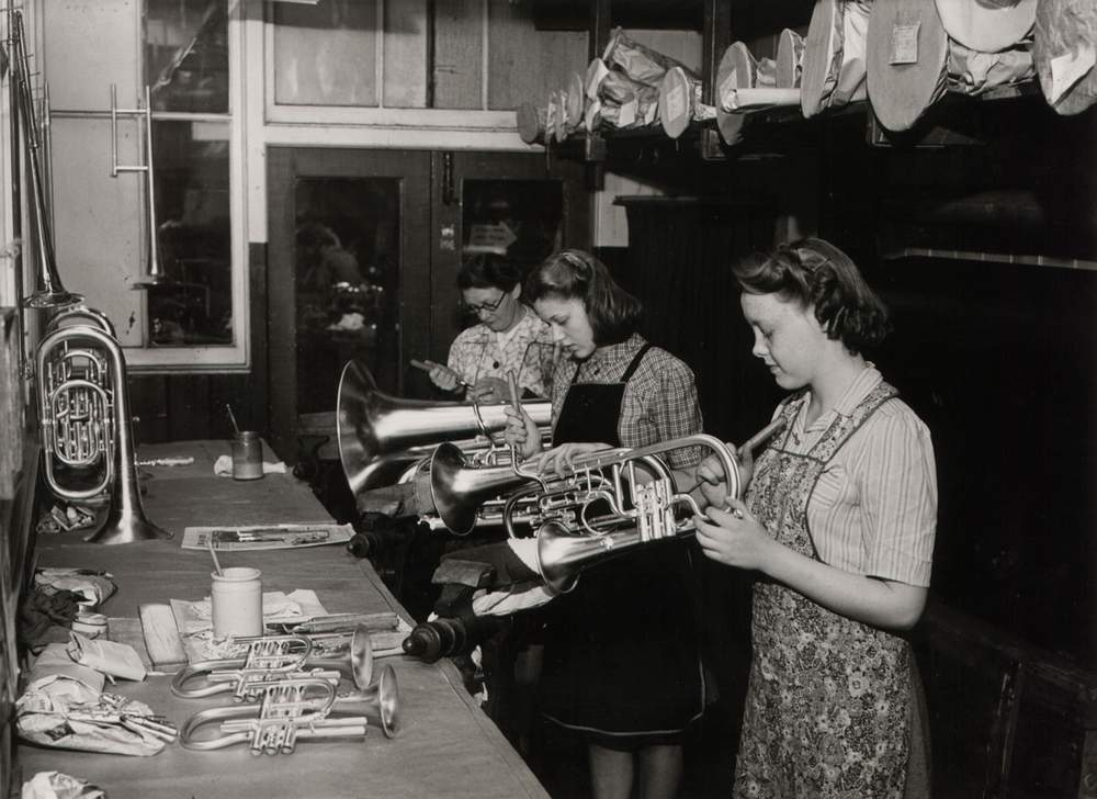 Production at The Salvation Army's Musical Instrument Factory, Clerkenwell Road (photo: International Heritage Centre)