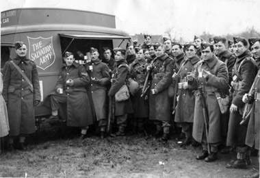 Salvation Army officers from Canada serving during the First World War